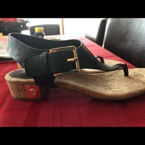 Michael Kors Sandals with Gold Bling 9